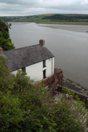 The boathouse in Laugharne, Wales