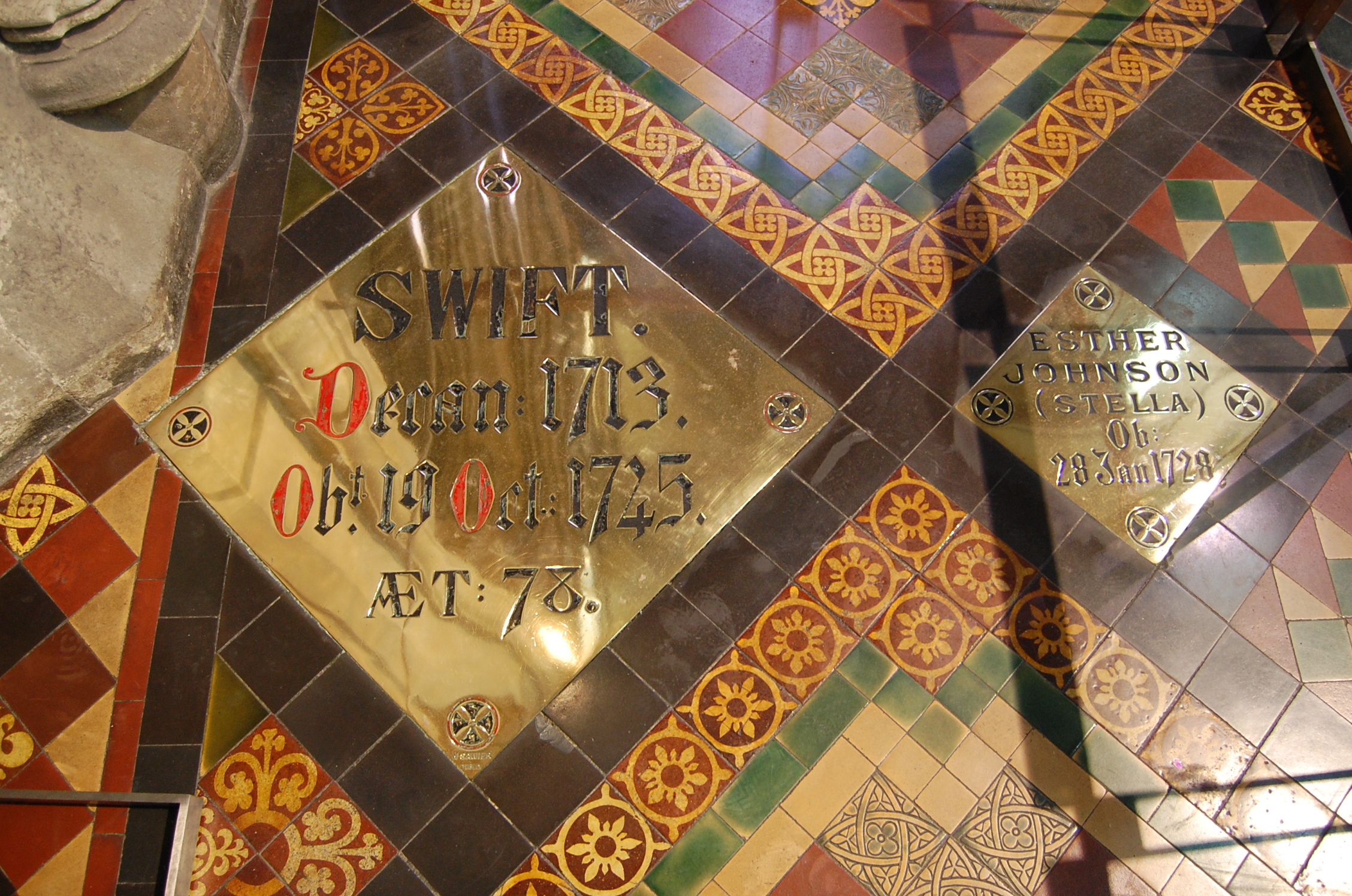 Jonathan Swift St Patrick's Cathedral Dublin poet grave